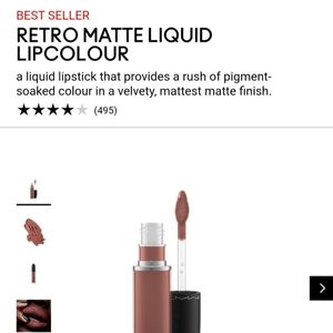 MAC retro matte liquid lipcolor topped with Brandy